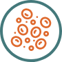 Hematologic toxicity icon with a green circle outline